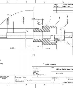 12 Volt Metal Body Igniter Glo12-40-MBSI Drawing