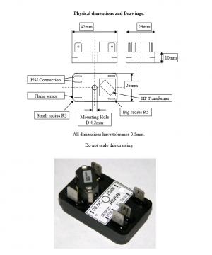 Re-Igniter Flame Sensor Controller - 24 volt Battery Dimensions