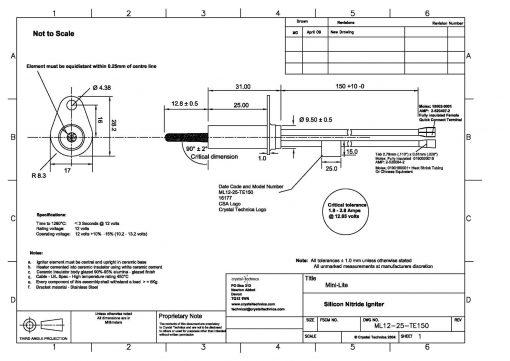 ML12-25-TE150 - Drawing