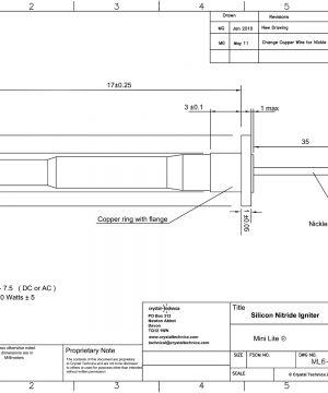 6 Volt Mini Igniter ML6-20-MTSI Drawings