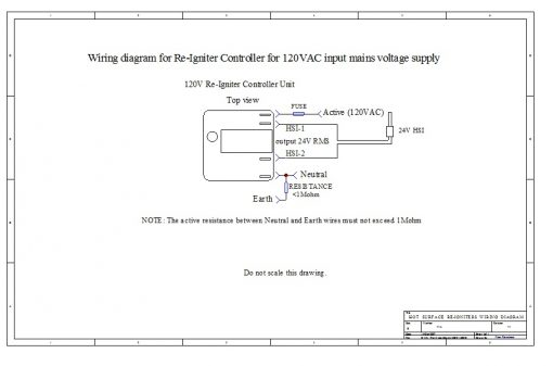 Digital Re-Igniter Flame Sensor Controller Wiring